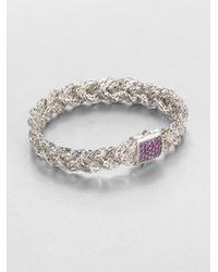 John Hardy | Purple Amethyst Sterling Silver Braided Bracelet | Lyst