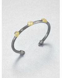 Jude Frances | Metallic Sapphire Triple Maltese Cross Cuff | Lyst