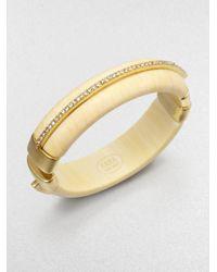 Kara Ross Metallic Ivoryprint Cuff Bracelet