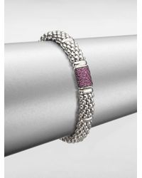 Lagos | Metallic Pink Sapphire Sterling Silver Bracelet | Lyst