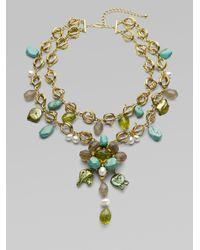 Oscar de la Renta | Blue Multistone Necklace | Lyst