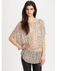 Parker - Pink Beaded Dolman Tunic Top - Lyst