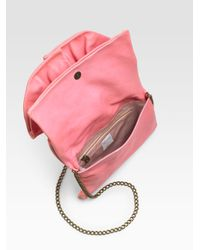 RED Valentino | Pink Bow Flap Convertible Clutch | Lyst