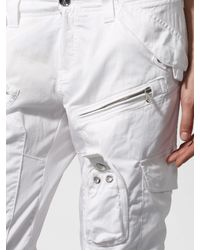 RLX Ralph Lauren White Cotton-Blend Cargo Pant