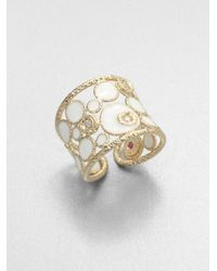 Roberto Coin | Metallic Diamond Enamel 18k Gold Ring | Lyst