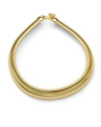 1AR By Unoaerre Metallic Ribbed Snake Necklace