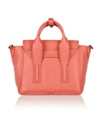 3.1 Phillip Lim - Pink The Pashli Small Sharkeffect Leather Trapeze Bag - Lyst
