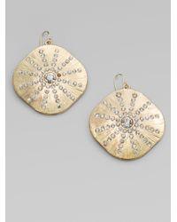 ABS By Allen Schwartz Metallic Sparkle Sand Dollar Earrings