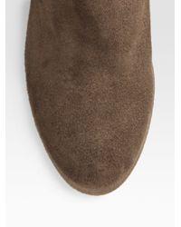 Aquatalia   Black Weatherproof Suede Scrunched Kneehigh Wedge Boots   Lyst