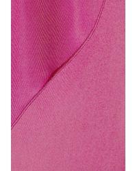 Bottega Veneta | Purple Strapless Satin-jersey Column Gown | Lyst