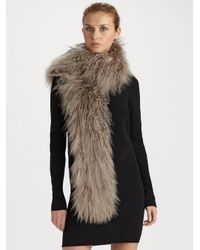 Dolce & Gabbana | Brown Fur Scarf | Lyst