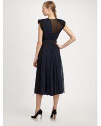Donna Karan - Black Belted Silk Dress - Lyst