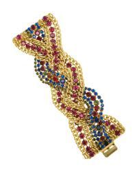 Elizabeth Cole | White Goldplated Swarovski Crystal Bracelet | Lyst