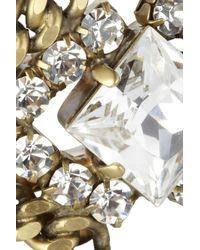 Elizabeth Cole White Plated Swarovski Crystal Bracelet