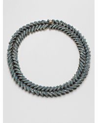 Giles & Brother | Metallic Encrusted Ceres Collar Necklace | Lyst