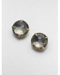 Ippolita - Green 18k Gold Pyrite Doublet Stud Earrings - Lyst