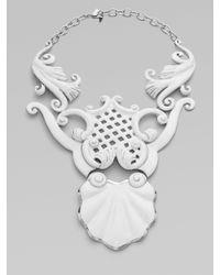 Isaac Mizrahi New York - White Draper Necklace - Lyst