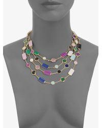 kate spade new york - Multicolor Pop Palette Statement Necklace - Lyst