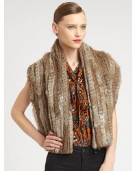 Marc By Marc Jacobs Brown Alice Rabbit Fur Vest
