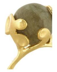 Monica Vinader | Metallic Lace Goldplated Labradorite Ring | Lyst