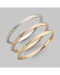 Roberto Coin | Metallic Classica 18k Yellow Gold Knife-edge Bangle Bracelet | Lyst