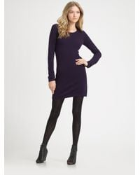 962d847ac0e Theory Cashmere Sweater Dress in Purple - Lyst