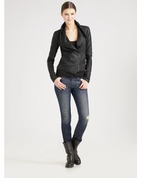Vince | Black Scuba Leather Jacket | Lyst