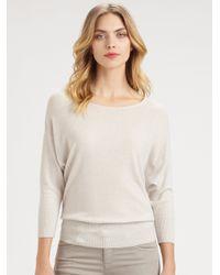 Armani - Natural Cashmere Dolman Sweater - Lyst