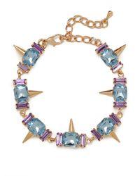 BaubleBar | Metallic Blue Gem Spike Bracelet | Lyst