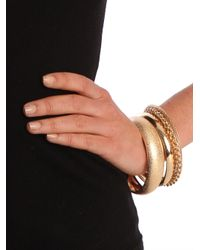 BaubleBar - Metallic Gold Bangle Quartet - Lyst