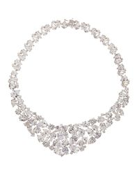 CZ by Kenneth Jay Lane | Multicolor Multishape Cubic Zirconia Bib Necklace for Men | Lyst