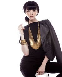 Deepa Gurnani | Metallic Golden Scalloped Cuff | Lyst
