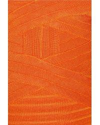 Hervé Léger Orange Bandage Dress