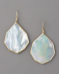 Ippolita White Angled Teardrop Earring, Mother-of-pearl