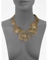 Oscar de la Renta - Metallic Filigree Collar Necklace - Lyst