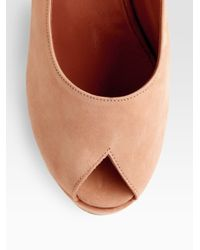 Robert Clergerie - Natural Dylan Suede Slingback Wedge Sandals - Lyst