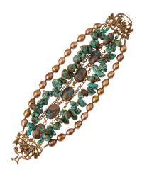 Stephen Dweck | Green Chrysoprase and Turquoise Multistrand Bracelet | Lyst
