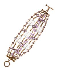Stephen Dweck | Pink Purple Pearl Multistrand Bracelet | Lyst