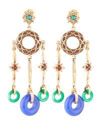Stephen Dweck - Metallic Yinyang Hoop Threedrop Earrings - Lyst