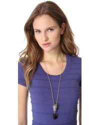 Alexis Bittar Metallic Cordova Jaguar Necklace