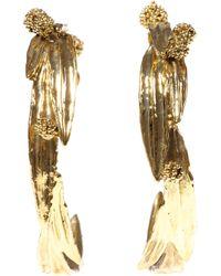 Aurelie Bidermann | Yellow 'surfing Mimosa' Loop Earrings | Lyst