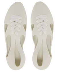 F-Troupe White Jelly Bathing Flat Shoes for men