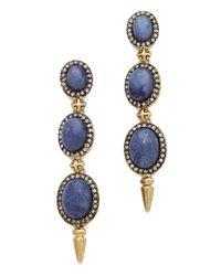 House of Harlow 1960 Blue Star Drop Earrings