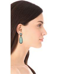 One By Blue Crown Double Drop Earrings