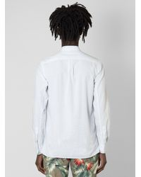 Steven Alan White Amos Band Collar Shirt for men