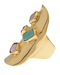 Aurelie Bidermann Metallic Viracocha Ring