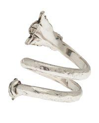 Aurelie Bidermann Metallic Double Loop Arrow Ring