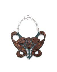 Carven - Brown Plexi Bib Necklace - Lyst