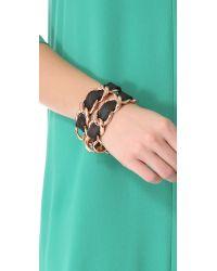 CC SKYE Black Double Wrap Bracelet