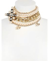 DSquared² Metallic Swarovski Multi Chain Necklace
